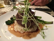 Filet Mignon with risotto and broccolini