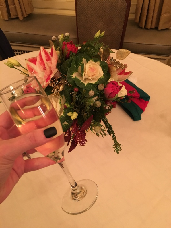 Cheers...with a fantastic holiday bouquet