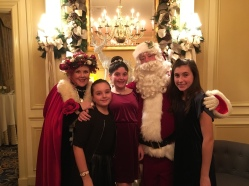 The girls met Santa