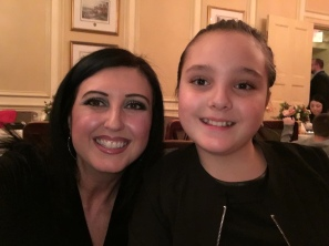 W my youngest niece! She is here from Italy