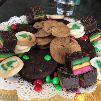 the cookie plates I put together