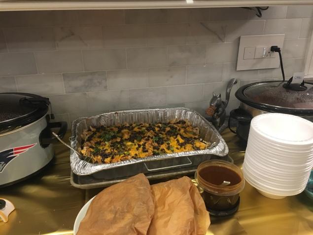pulled chicken enchilada set up