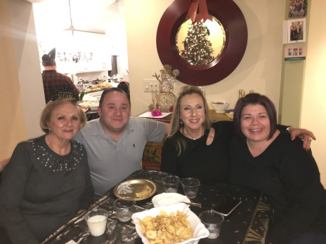 my mom, Mike, my sister and Rita