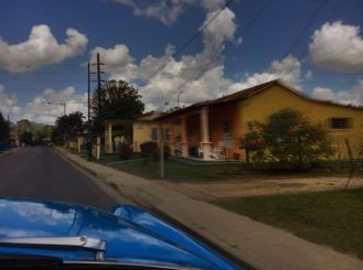Driving through Vinales