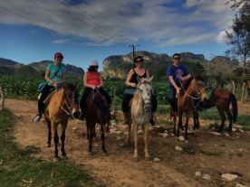 On our horses at the end of the ride.