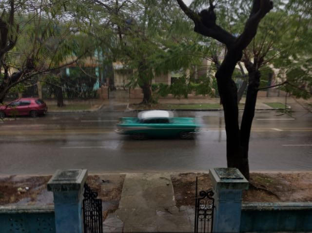 The start of the rain