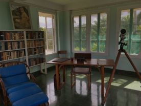 The room atop the lookout building