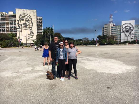 My family at the Revolution Plaza