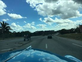 Horse n buggy on the highway