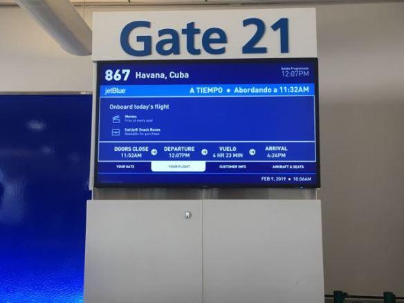 From Boston- Logan Airport- Gate 21, flight 867, Havana, Cuba
