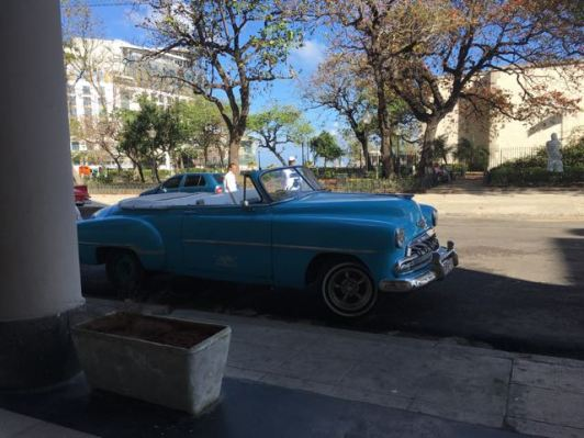 Classic Cars, Cuba- Walking out of our apartment