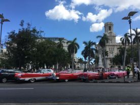 Classic Cars, Cuba by Parque Central Habana Vieja