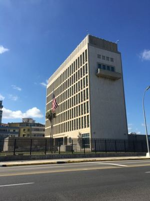 The American Embassy in Cuba..