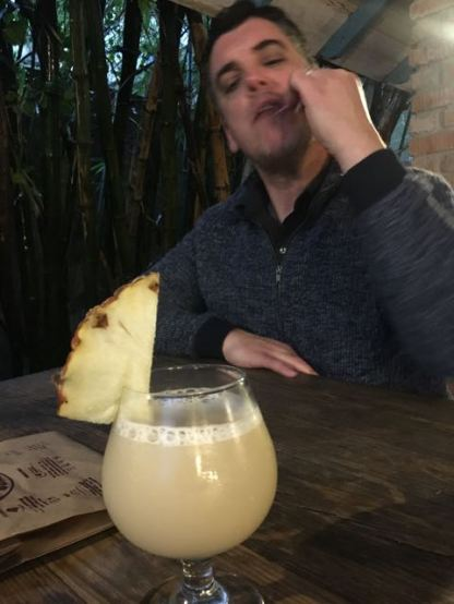 this is a virgin pina colada for my daughter