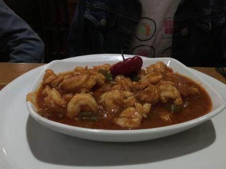 Shrimp enchilada