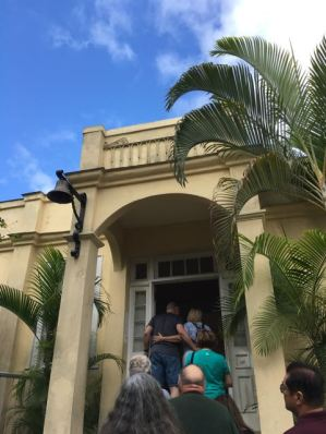 Entrance to the Hemingway House, in a line