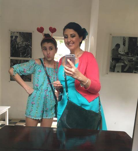 Mirror selfie in the left side cabana