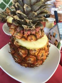 Cored pineapple