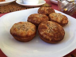 Homemade savory muffins