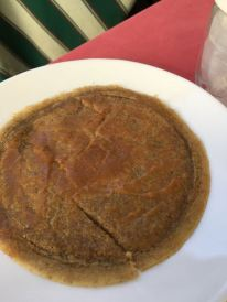 Buckwheat pancakes with honey