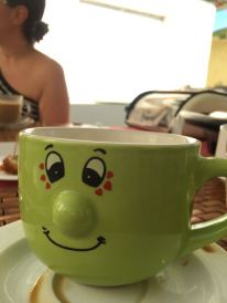 The girls' mugs .. my daughter had to take a photo of it.. for her phone smh