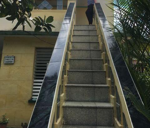 Casa de la Familia Cubana- The stairs to our apartment