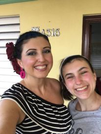 Me and our oldest.. who got burned from yesterday. (she didn't reapply sunscreen like I asked of her!!)