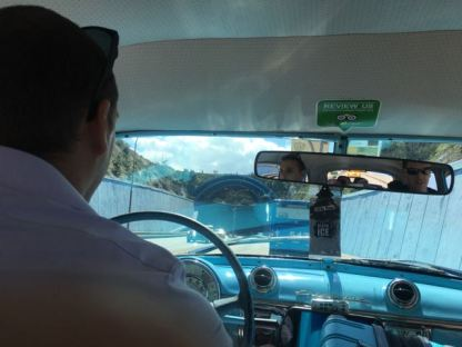 Going into the underwater tunnel to the main part of Havana