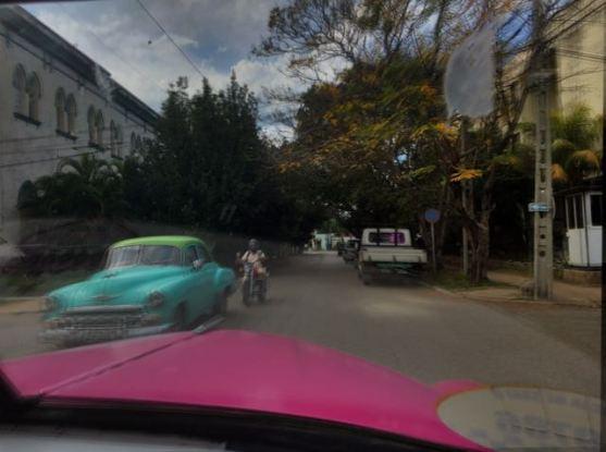 Driving along Havana