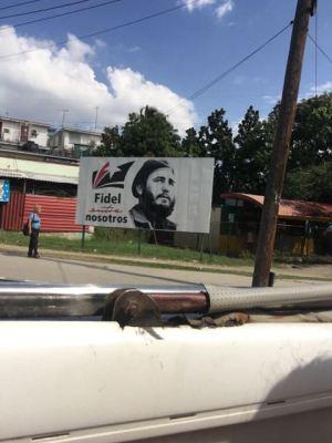 Sign along the street- Cuba, Havana