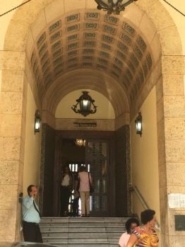 Walking into the Hotel Nacional of Cuba