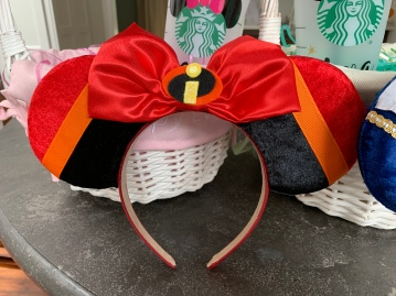 Jack Jack Incredibles Minnie Ears for L (there's a choc chip cookie on the back of an ear!)