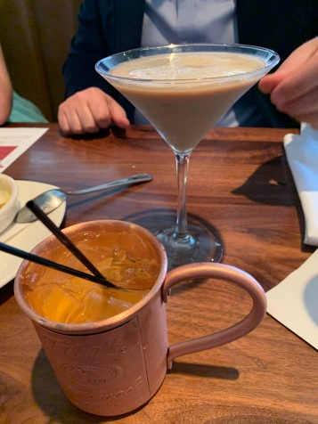 Orange mule and coffee martini.