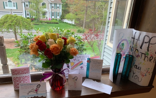 all the beautiful cards and flowers, i feel so special. :)
