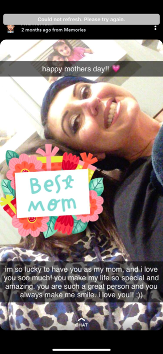 my oldest's snap post to her mamma. :) she is so thoughtful.