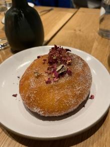 Rhubarb jelly doughnut