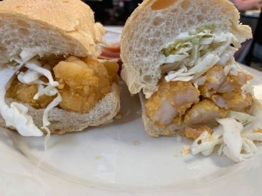 A traditional shrimp po'boy at Mother's ... YESSSAHHHH so good!