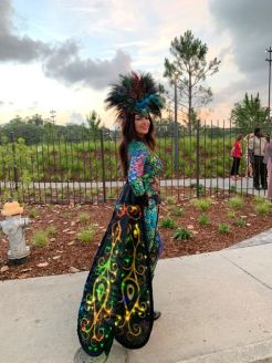 How cool is this peacock costume! she was gorgeous.