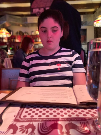 Reading the menu... figuring it out