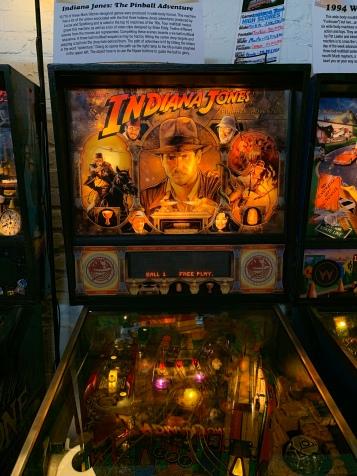 Indiana Jones Pinball Machine, Silverball Museum Delray Beach