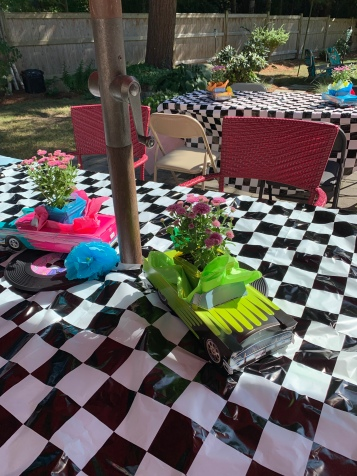 The cars as centerpieces