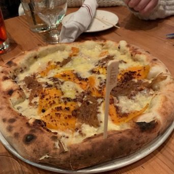 Butternut Squash Pizza.. so good!