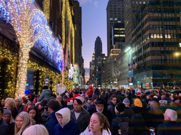 The amount of people was staggering!! And look at the view above.. gorgeous! Saks Fifth Ave Windows Christmas 2019