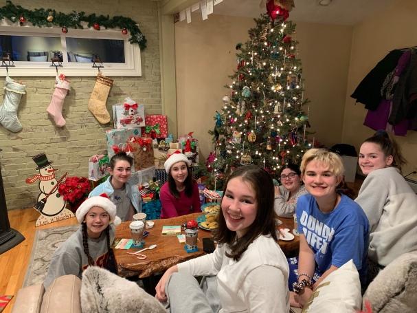 Secret Santa w all her best friends. :)