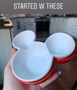 Mickey Mouse Head Ramekin.